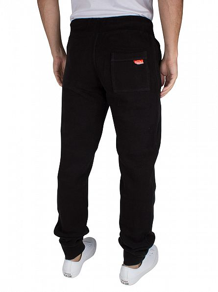 Superdry Jet Black Slim Fit Orange Label Logo Joggers