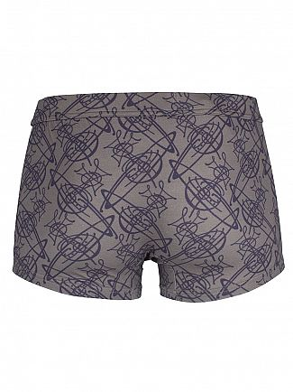 Vivienne Westwood Grey/Blue All Over Logo Trunks