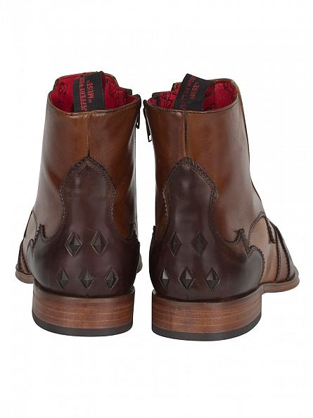 Jeffery West Tequila Dark Brown/Mid Brown Scarface Boots