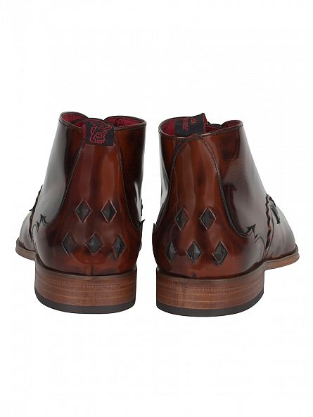 Jeffery West College Mid Brown/Honey Scarface Polished Boots