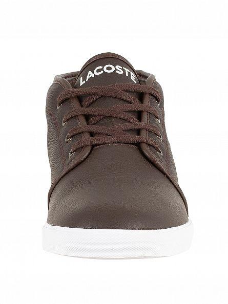 Lacoste Dark Brown/Dark Brown Ampthill LCR3 SPM Hi Trainers