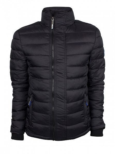 Superdry Black Fuji Triple Zip Logo Jacket