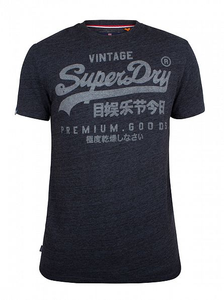 Superdry Nebular Navy Heather Premium Goods Graphic T-Shirt