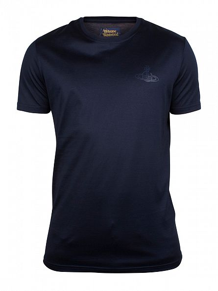 Vivienne Westwood Navy Chest Logo T-Shirt