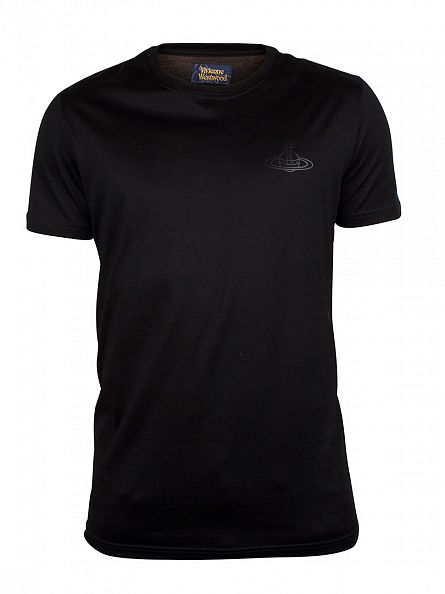 Vivienne Westwood Black Chest Logo T-Shirt