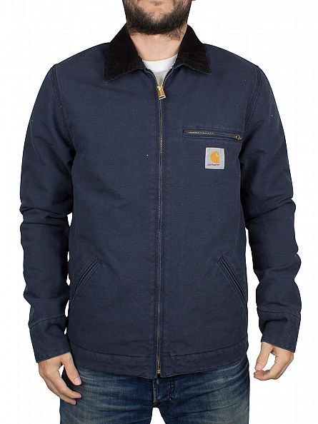 Carhartt WIP Navy/Black Rinsed Detroit Logo Jacket