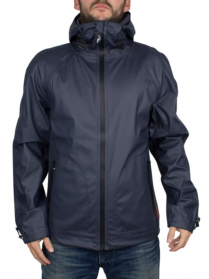 Hunter Navy Original Rubber Windcheater