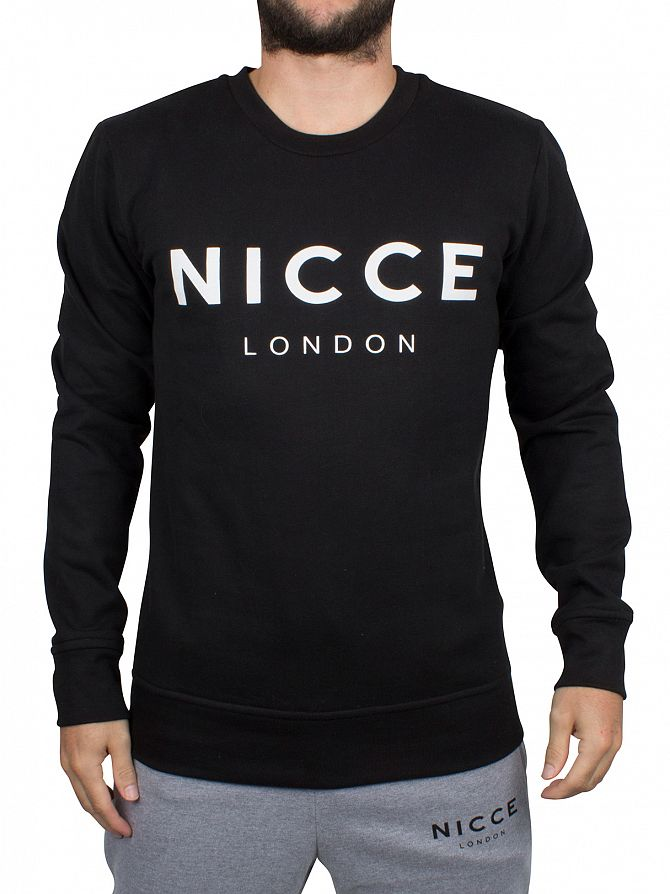 Nicce London Black Original Logo Sweatshirt