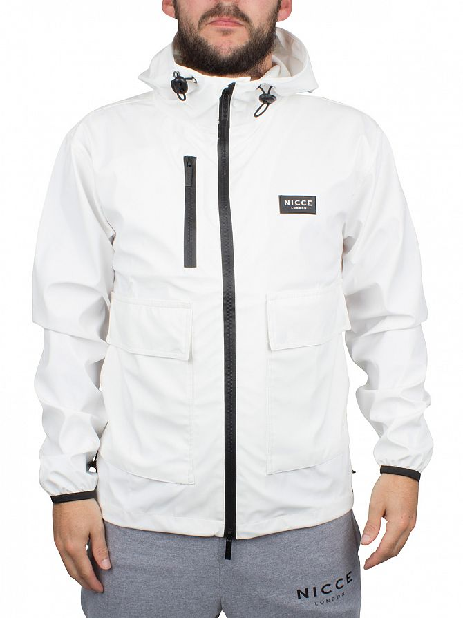 Nicce London White Short Logo Mac Jacket