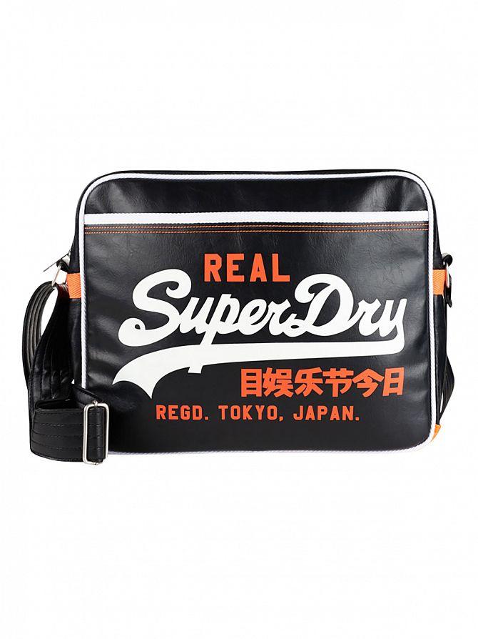 Superdry Black/Optic Mashed Up Alumni Bag