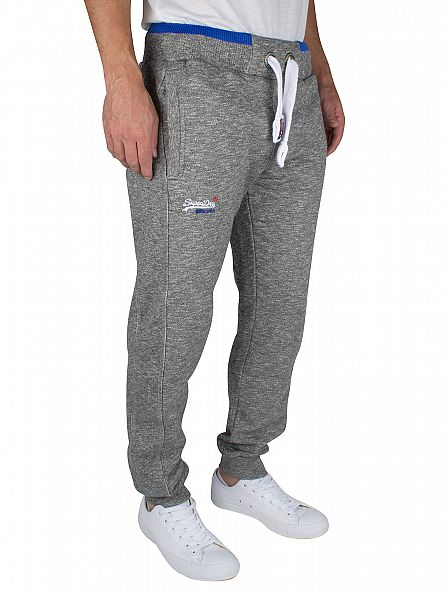 Superdry Phoenix Grey Grit Orange Label Logo Joggers