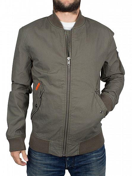Superdry Cargo Green Rookie Drone Logo Bomber Jacket