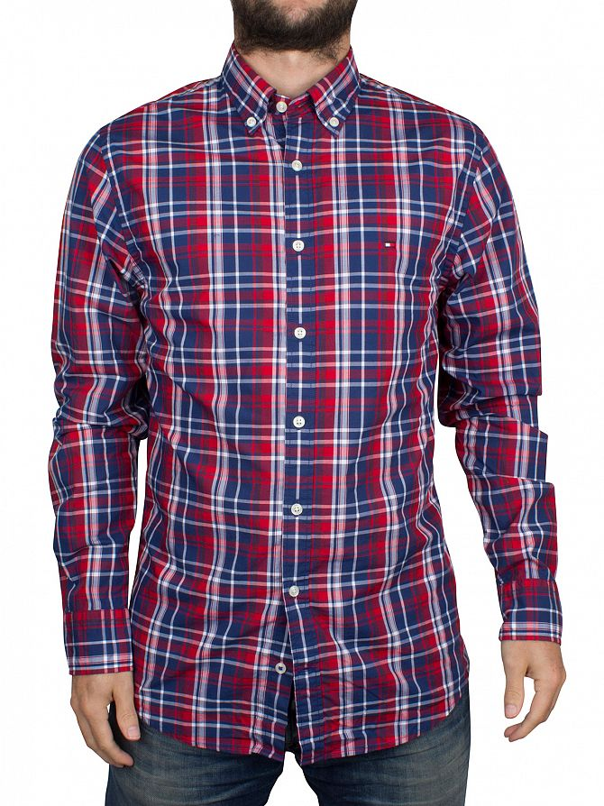 Tommy Hilfiger Apple Red/Dutch Navy New York Fit Roan Checked Shirt