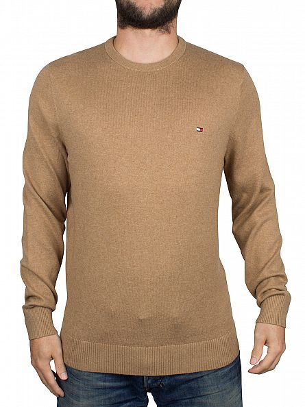 Tommy Hilfiger Tigers Eye Heather Pima Cashmere Logo Knit