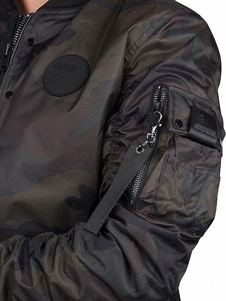 4Bidden Green Radar Padded Camo Jacket