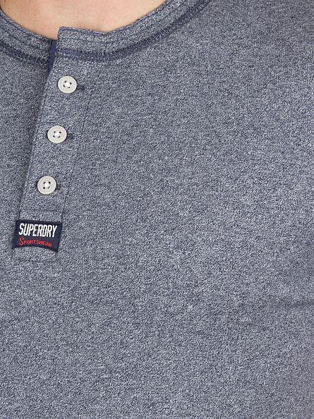 Superdry Monsoon Navy Grindle Heritage Grandad Logo T-Shirt