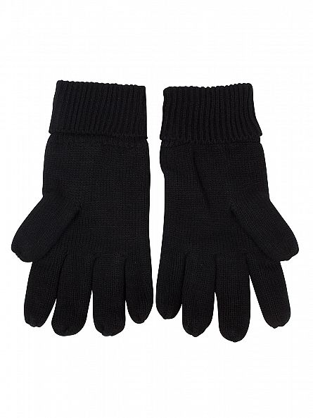 Superdry Black Orange Label Gloves