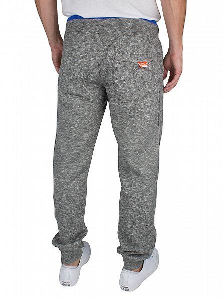 Superdry Phoenix Grey Grit Orange Label Logo Joggers