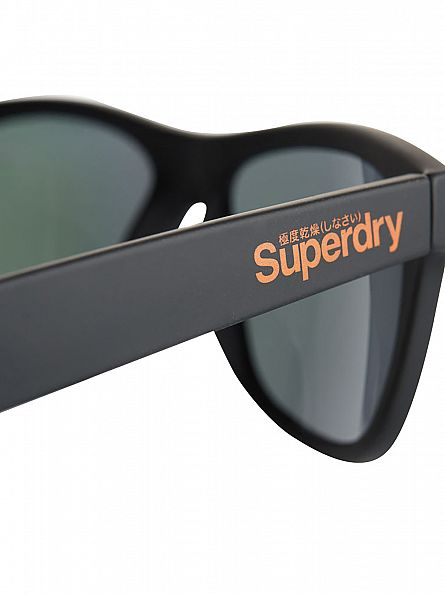Superdry Black/Purple Rebel Rubberised Sunglasses