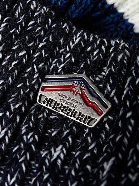 Superdry Dark Grey Twist Super Logo Beanie