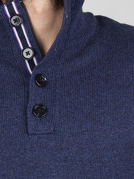 Tommy Hilfiger Navy Blazer Dosel Button Up Knit