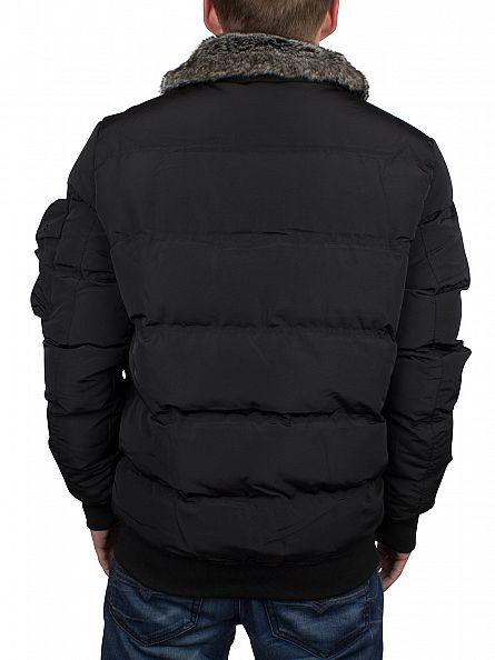 4Bidden Black Invader Fur Collar Jacket
