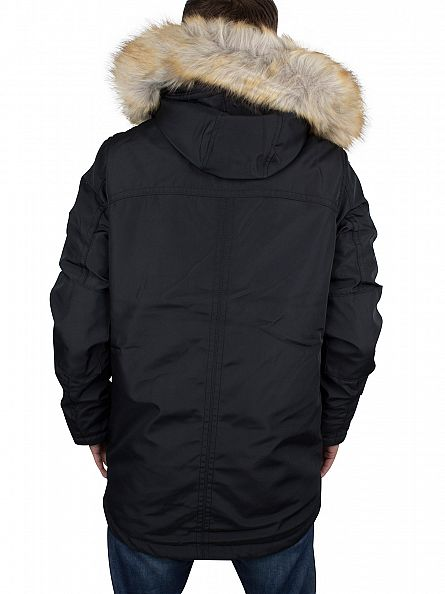 Hilfiger Denim Caviar Black Technical Parka 30 Jacket