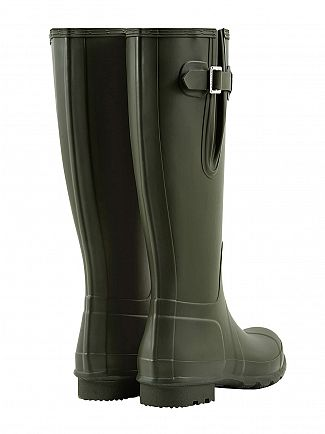Hunter Dark Olive Original Side Adjustable Wellies