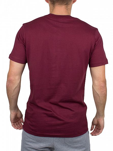 Nicce London Burgundy Original Logo T-Shirt