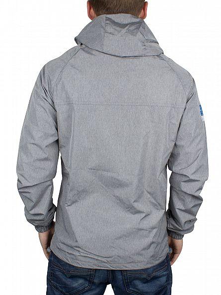 Superdry Light Grey Marl/Denby Blue Dual Zip Through Tri Colour Jacket