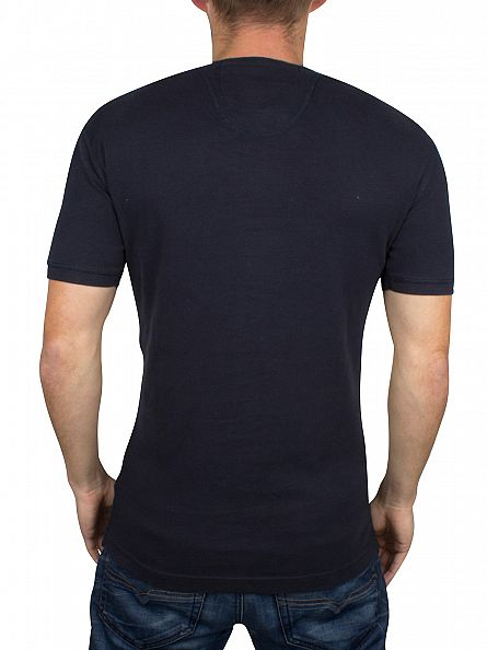 Superdry Eclipse Navy Heritage Grandad Logo T-Shirt
