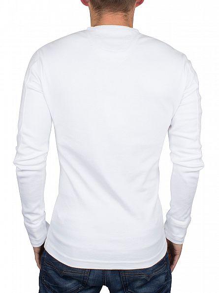 Superdry Optic White Longsleeved Heritage Grandad T-Shirt