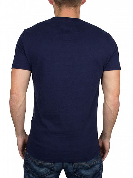 Superdry Nautical Navy Shirt Shop 77 Graphic T-Shirt