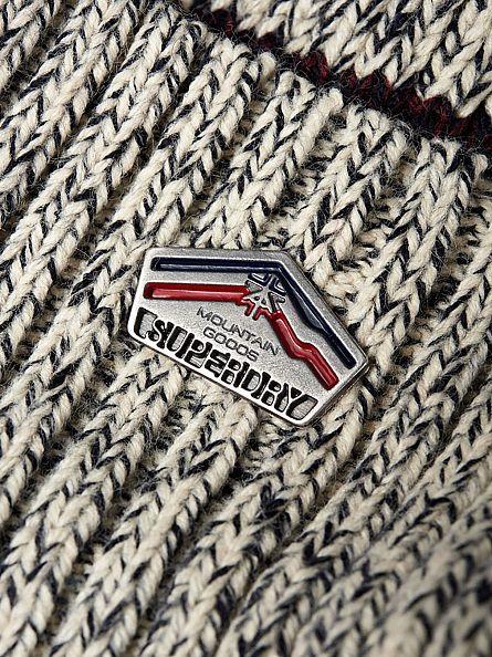 Superdry Grey Marl Super Logo Beanie