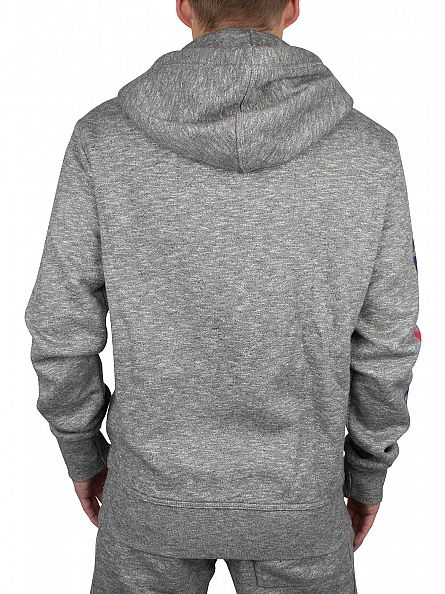 Superdry Phoenix Grey Grit Trackster Zip Logo Hoodie