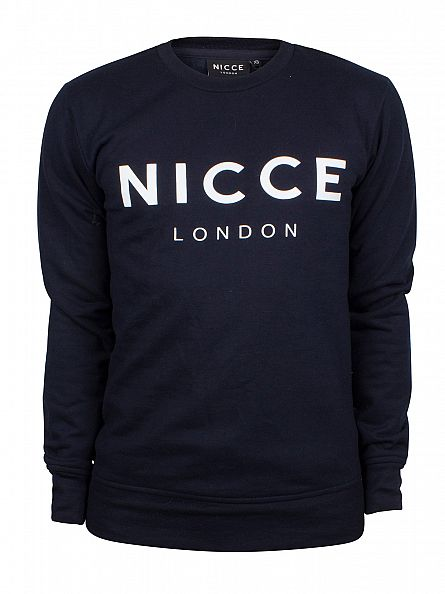 Nicce London Navy Original Logo Sweatshirt
