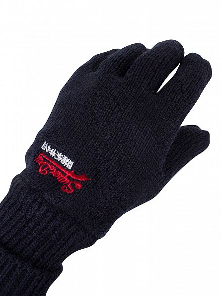 Superdry True Track Navy Orange Label Gloves