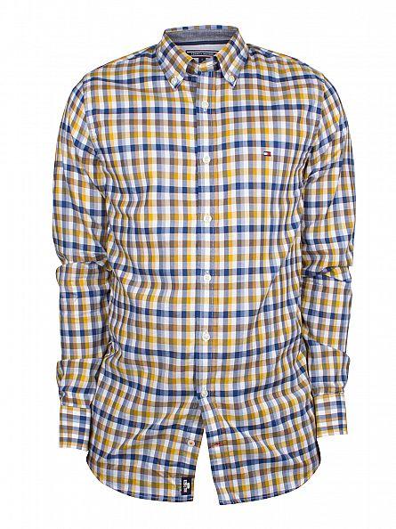Tommy Hilfiger Arrow Wood/Dutch Navy Slim Fit Eli Checked Logo Shirt