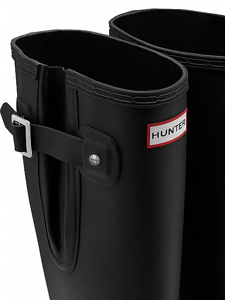 Hunter Black Original Side Adjustable Wellies