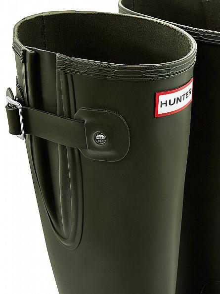 Hunter Dark Olive Original Side Adjustable Wellies