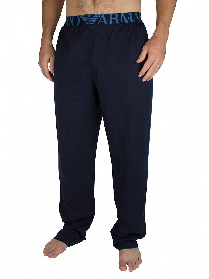 Emporio Armani Navy Logo Waistband Pyjama Bottoms