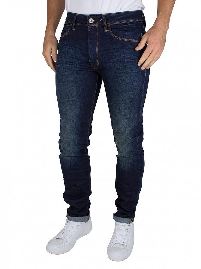 Franklin & Marshall Dark Blue Skinny Fit Seattle Jeans