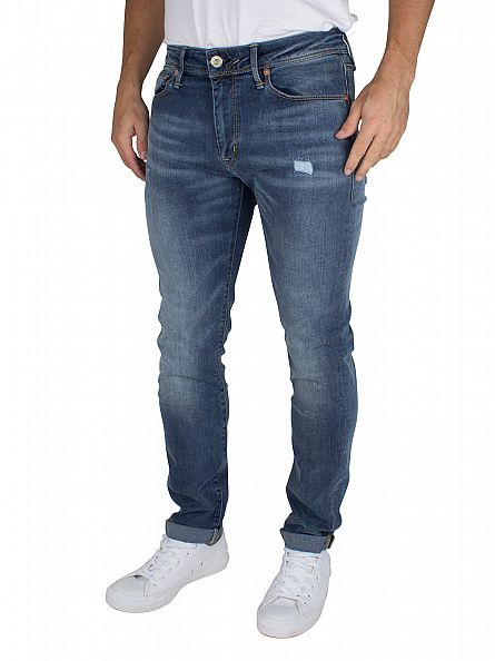Franklin & Marshall Mid Blue Skinny Fit Seattle Jeans