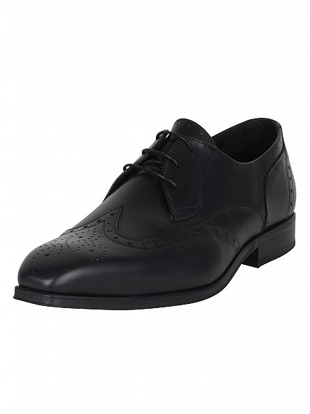 H by Hudson Black Jay Leather Shoes