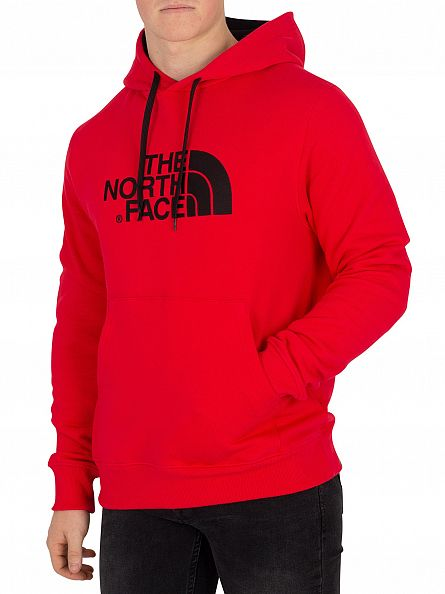 The North Face Red/Red Drew Peak Graphic Hoodie