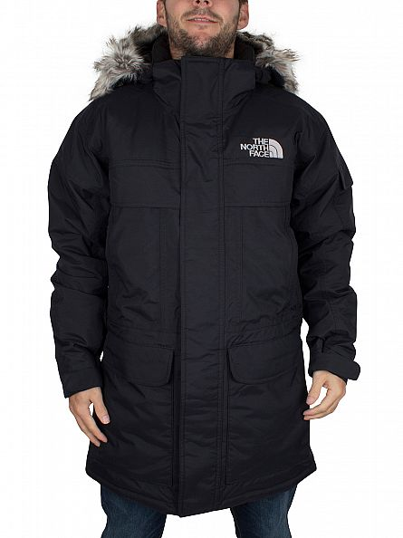 The North Face Black Mcmurdo Parka Logo Jacket