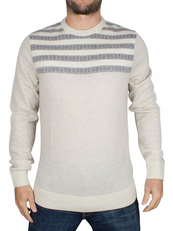 Tommy Hilfiger Birch Heather/Multi Roderick Striped Knit