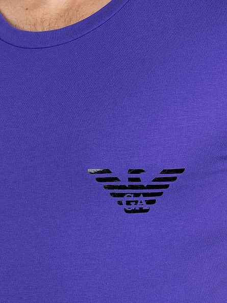Emporio Armani Purple Chest Logo T-Shirt