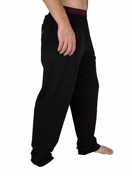 Emporio Armani Black Logo Waistband Pyjama Bottoms