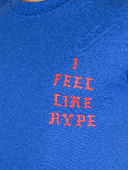 Hype Blue/Red Feel Like Hype Logo T-Shirt